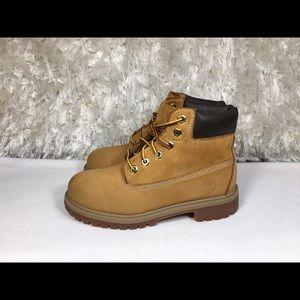 "Timberland 6"" Premiun Leather Waterproof Size 1 Y"